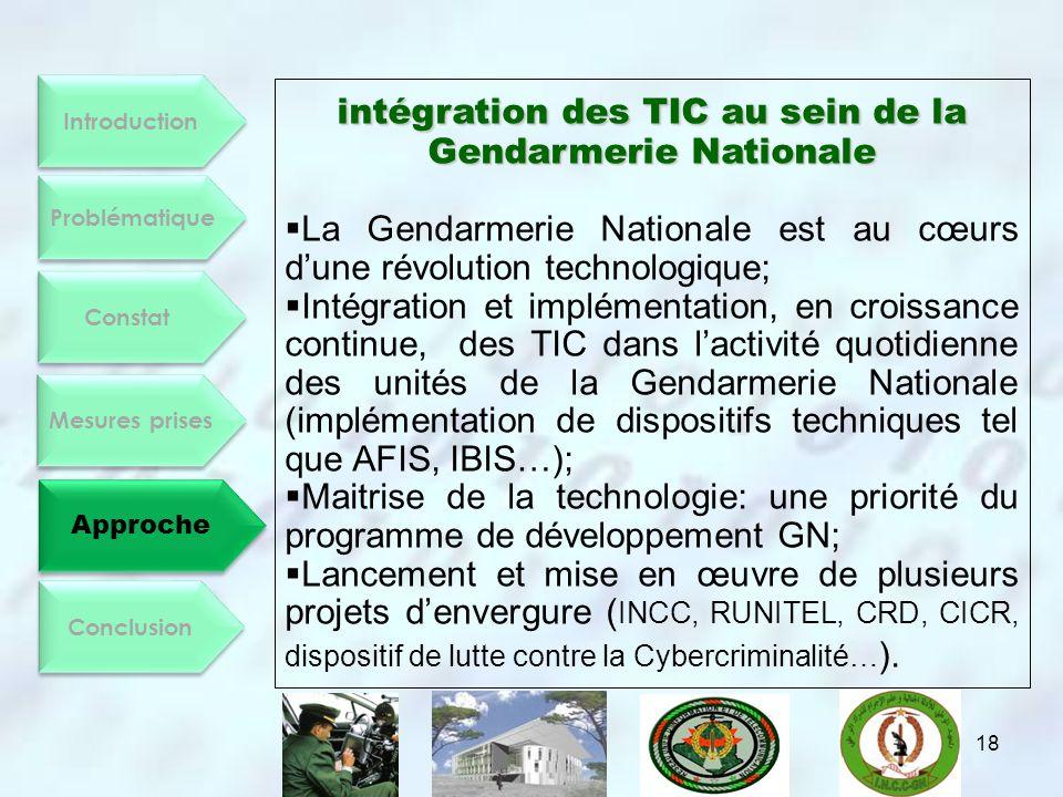 intégration des TIC au sein de la Gendarmerie Nationale