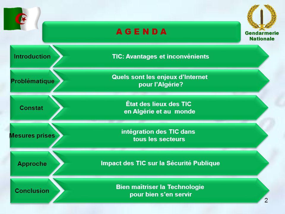 A G E N D A Introduction TIC: Avantages et inconvénients