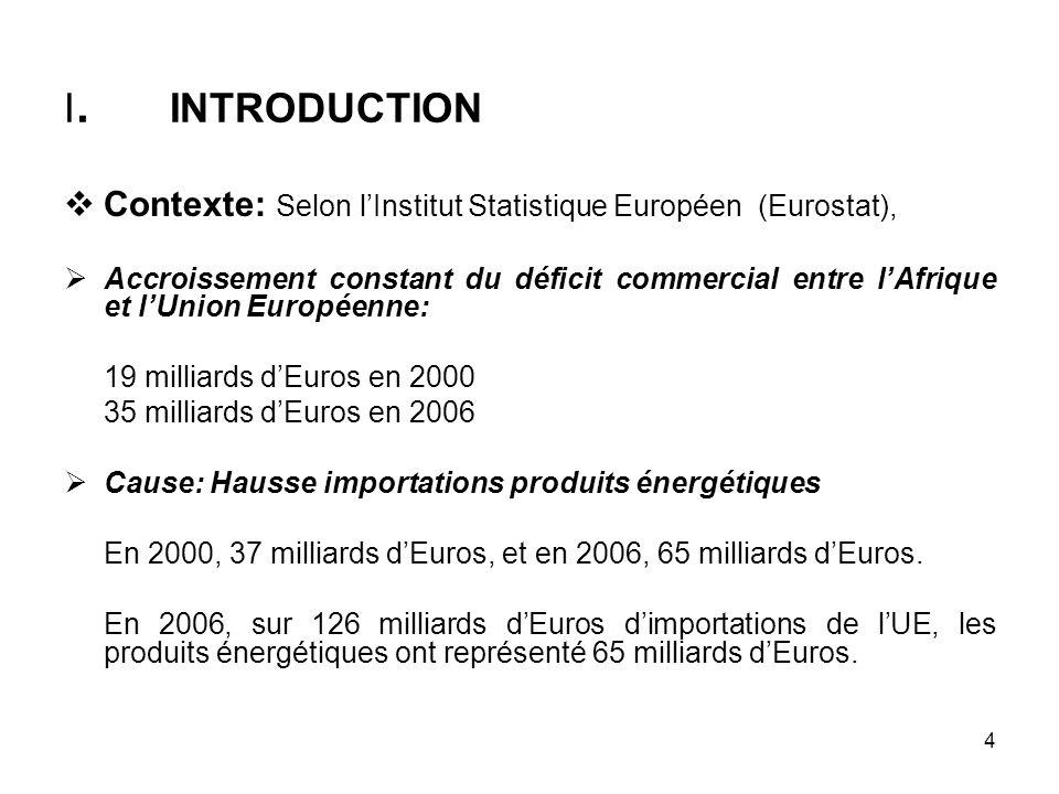 I. INTRODUCTION Contexte: Selon l'Institut Statistique Européen (Eurostat),