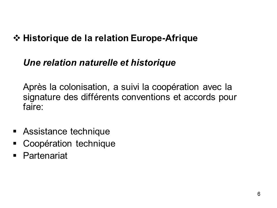 Historique de la relation Europe-Afrique
