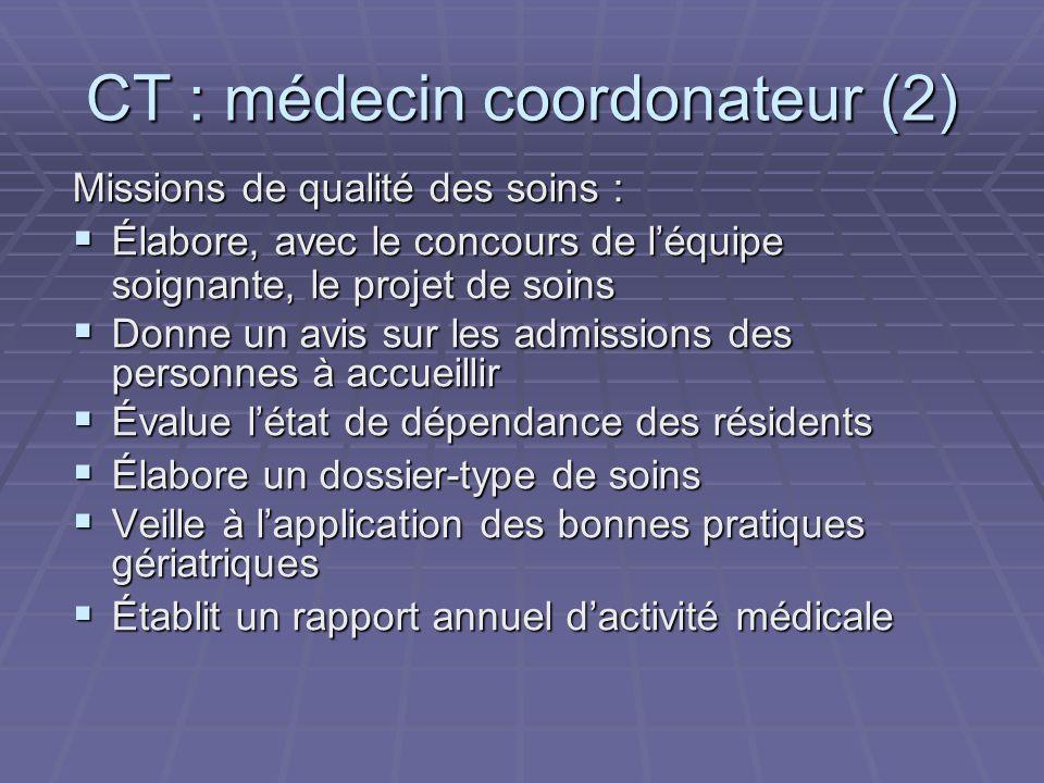 CT : médecin coordonateur (2)