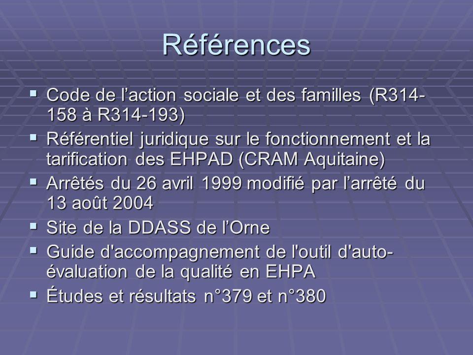 Références Code de l'action sociale et des familles (R314-158 à R314-193)