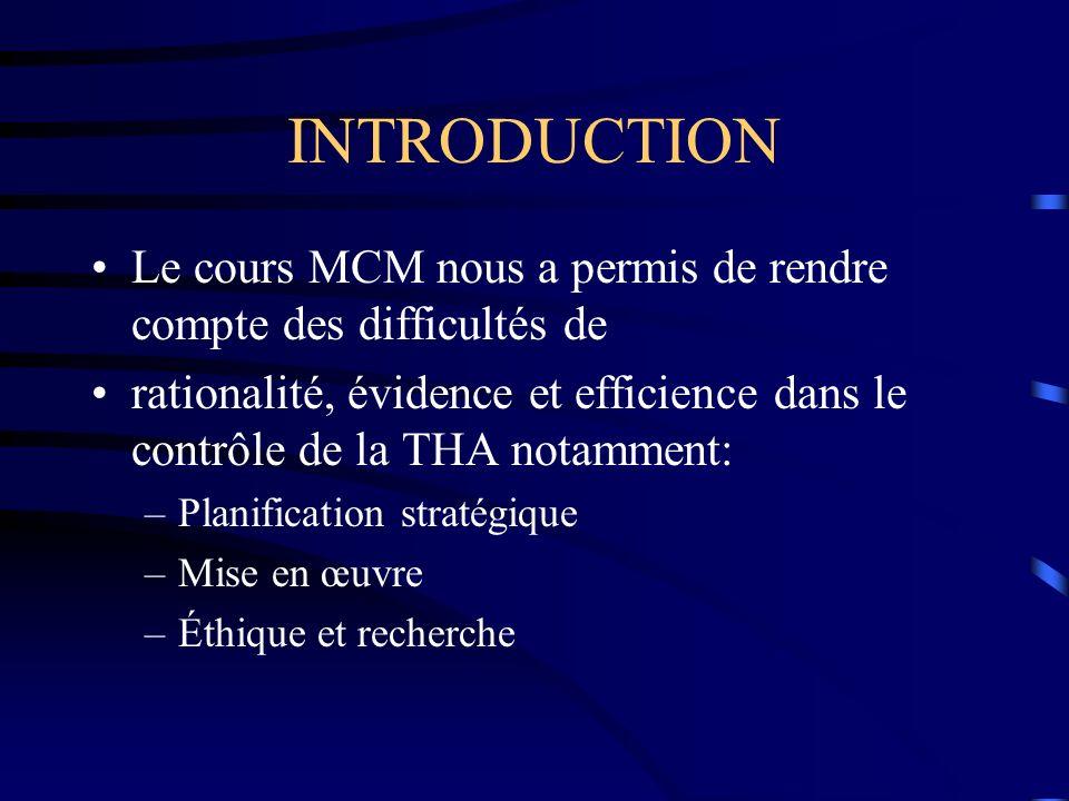 INTRODUCTION Le cours MCM nous a permis de rendre compte des difficultés de.
