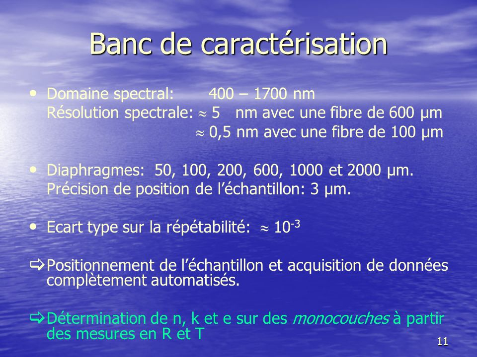 Banc de caractérisation