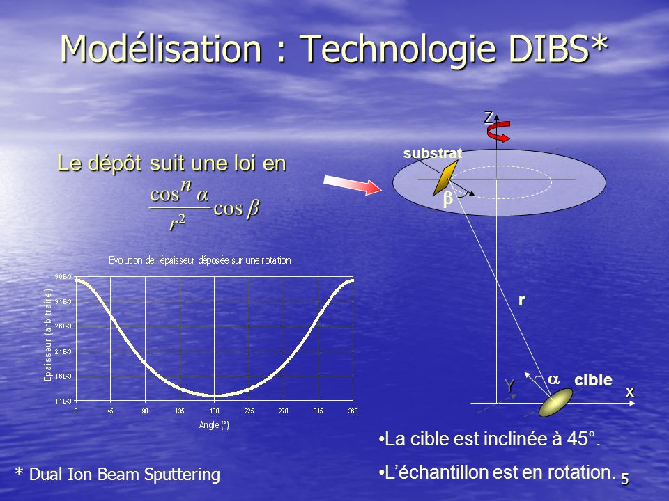 Modélisation : Technologie DIBS*