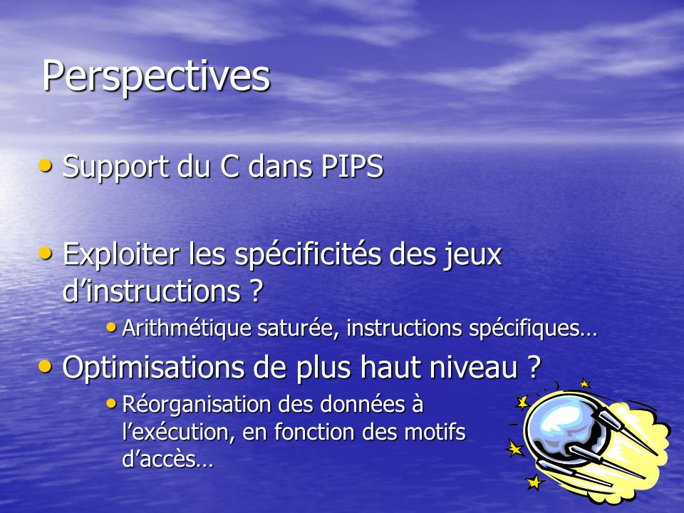 Perspectives Support du C dans PIPS