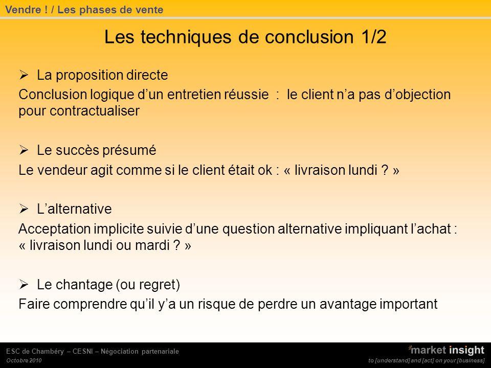 Les techniques de conclusion 1/2