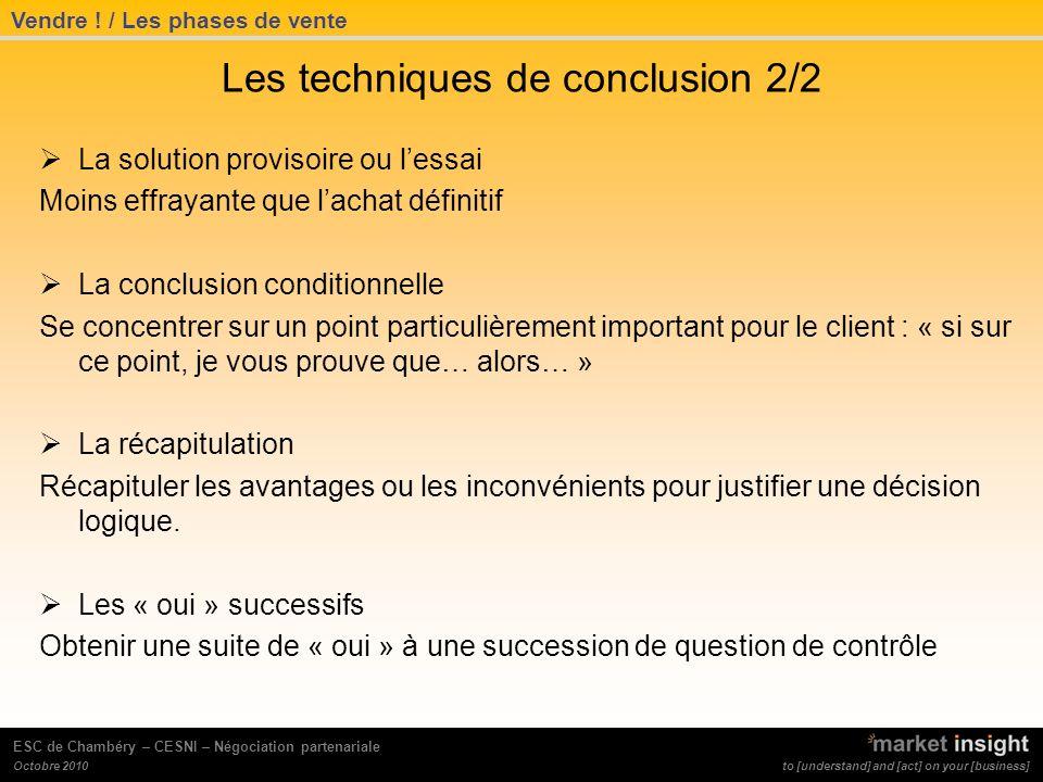 Les techniques de conclusion 2/2