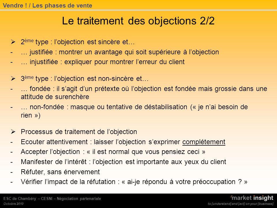 Le traitement des objections 2/2