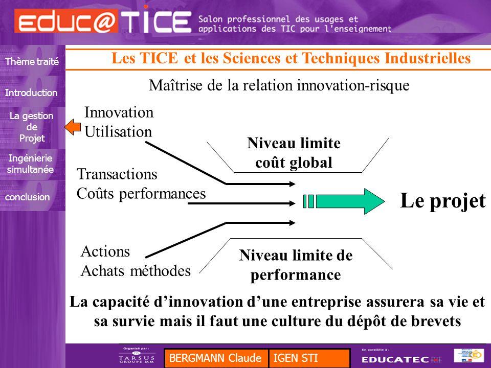 Niveau limite coût global Niveau limite de performance