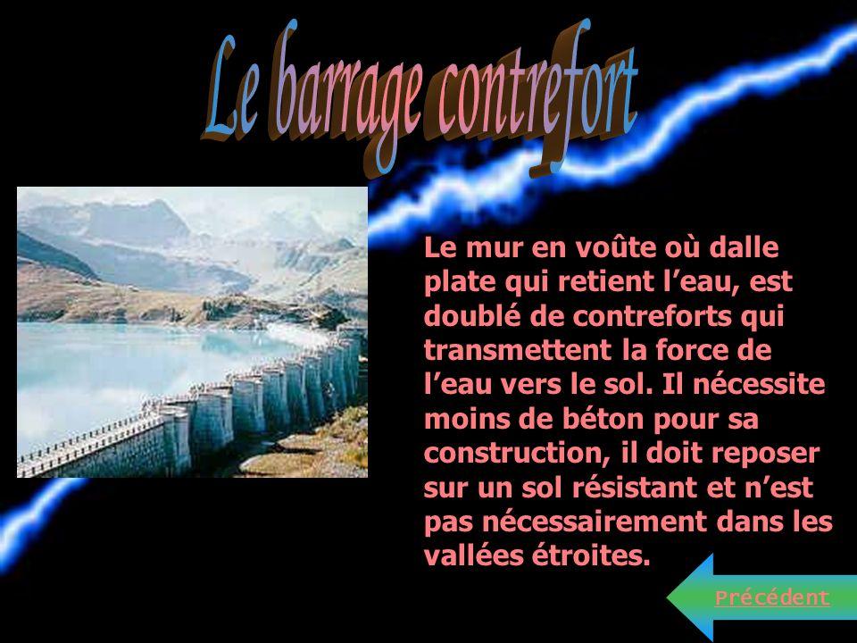 Le barrage contrefort