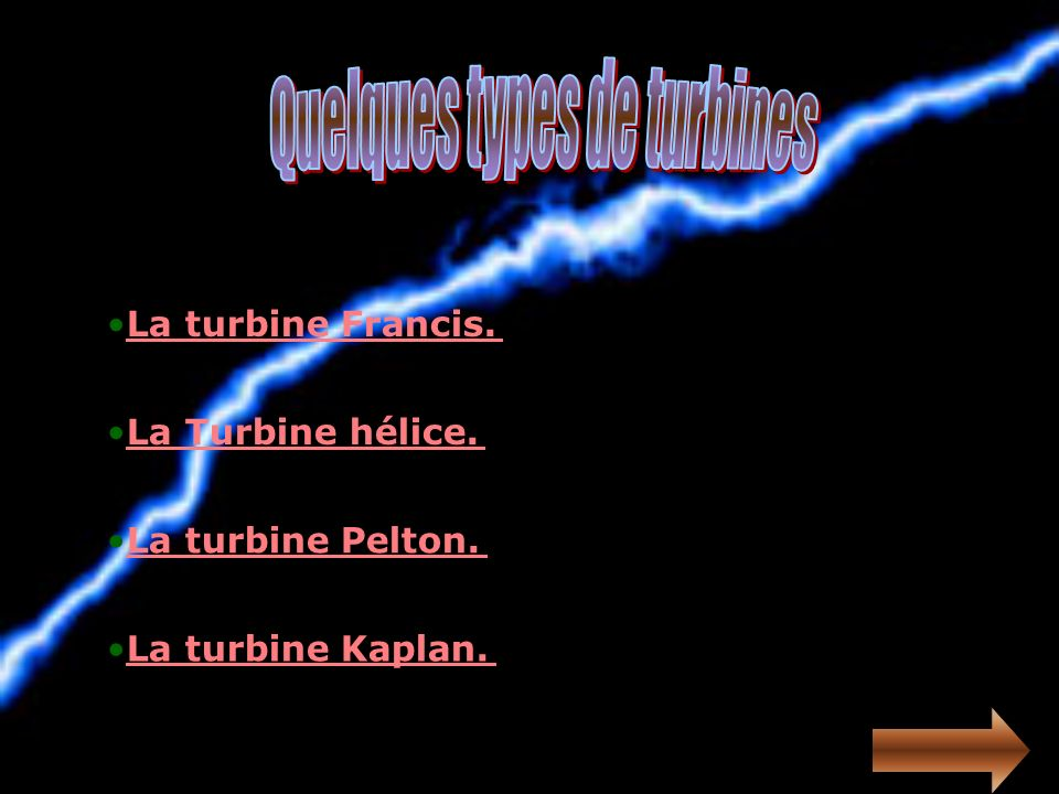 Quelques types de turbines
