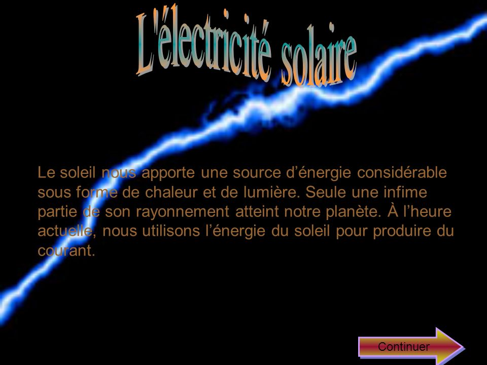 L électricité solaire