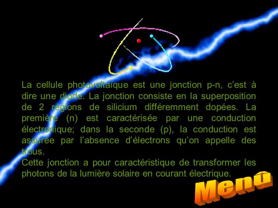 La cellule photovoltaïque est une jonction p-n, c'est à dire une diode