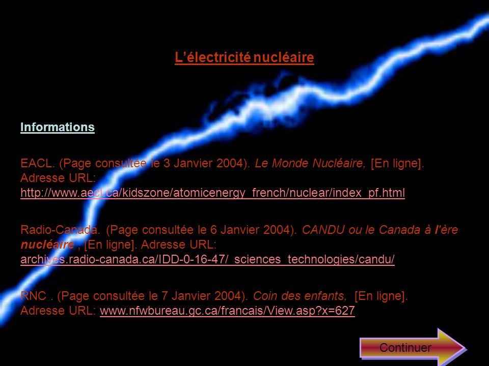 L'électricité nucléaire