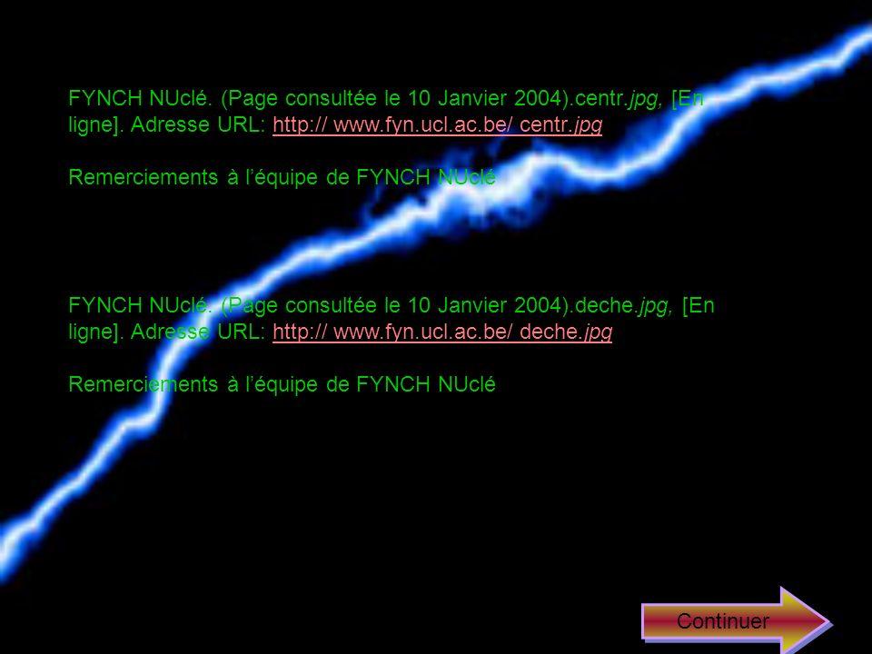 FYNCH NUclé. (Page consultée le 10 Janvier 2004). centr