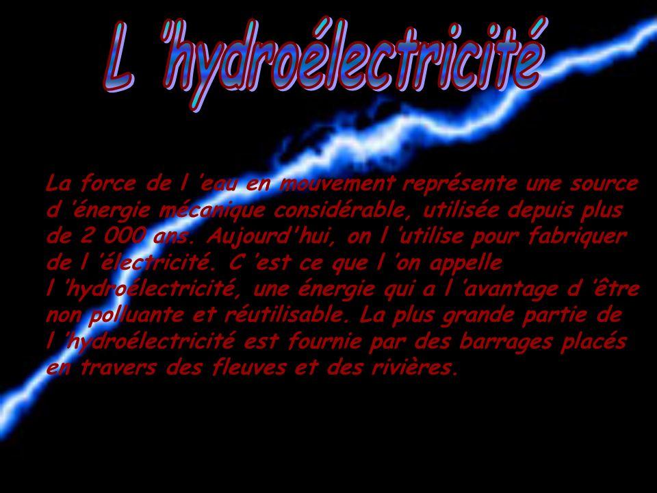 L 'hydroélectricité