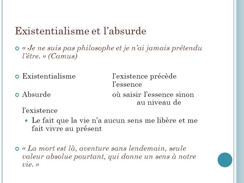 Existentialisme et l'absurde