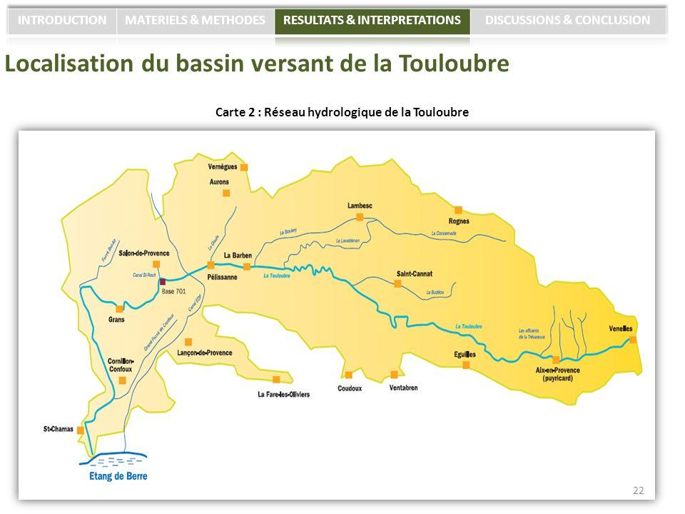 Localisation du bassin versant de la Touloubre