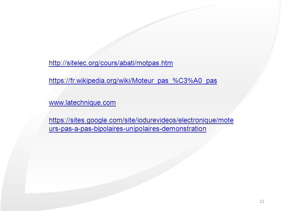 http://sitelec.org/cours/abati/motpas.htm https://fr.wikipedia.org/wiki/Moteur_pas_%C3%A0_pas. www.latechnique.com.