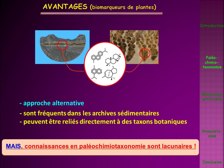 Avantages (biomarqueurs de plantes)