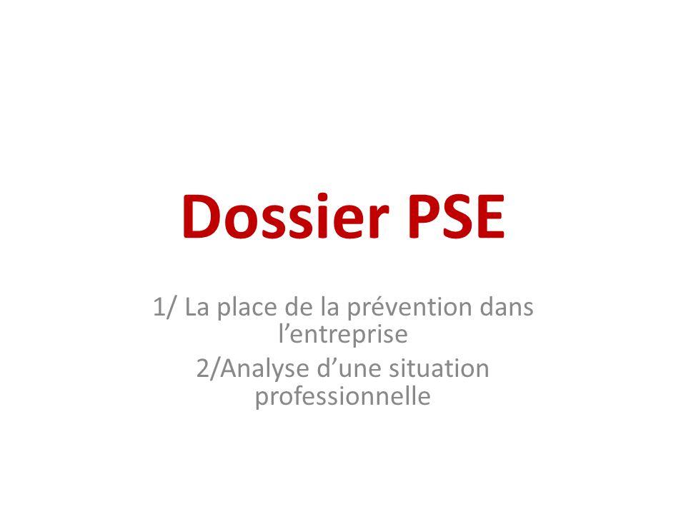 Dossier PSE 1/ La place de la prévention dans l'entreprise