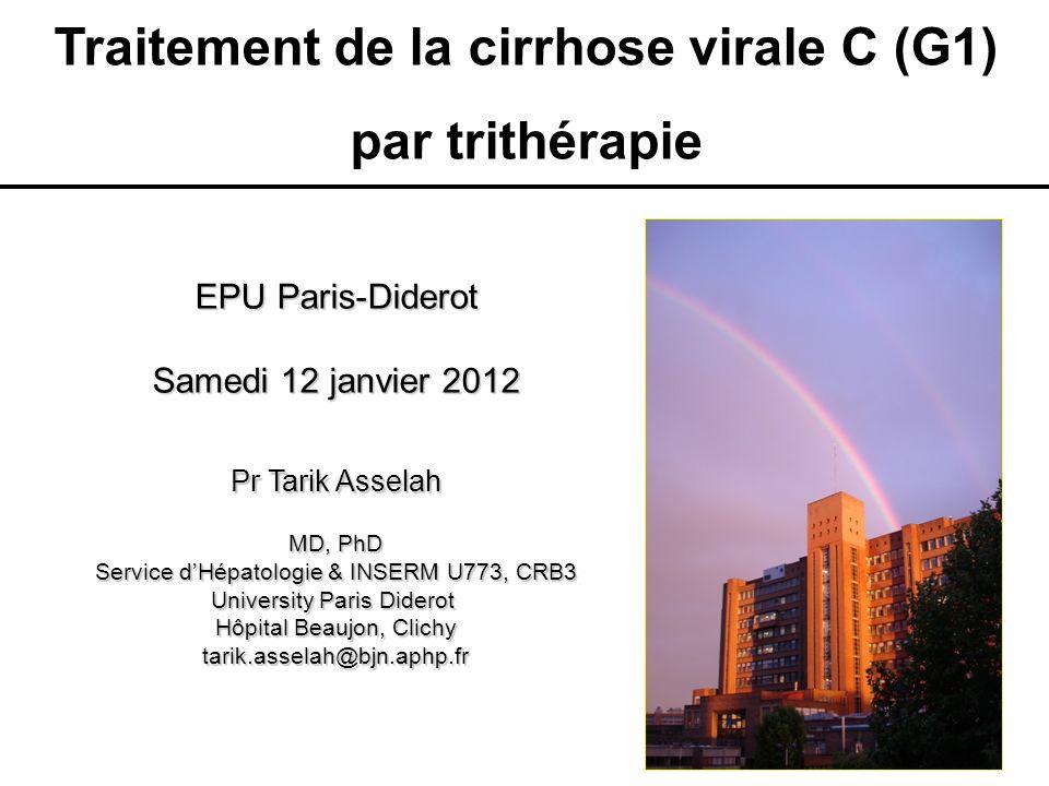 Traitement de la cirrhose virale C (G1)