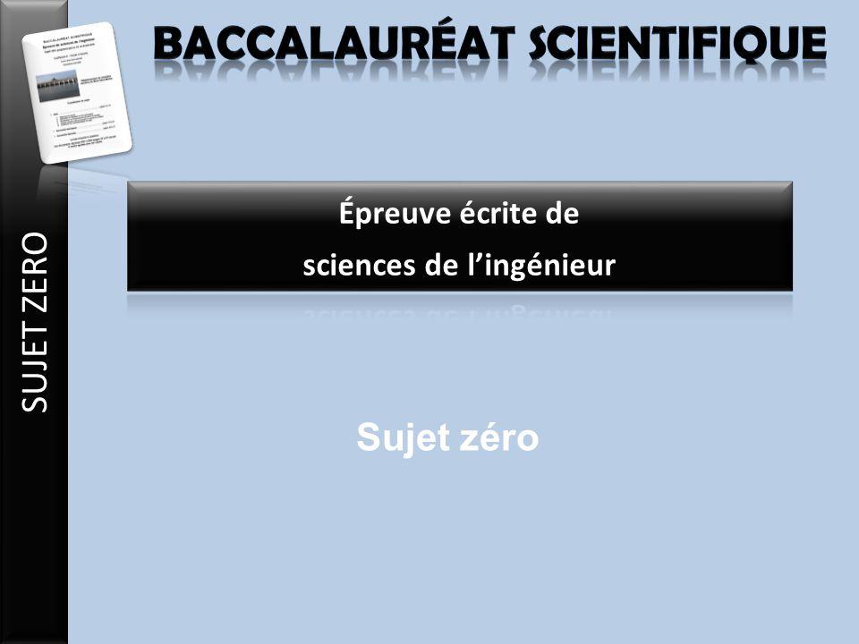 Baccalauréat scientifique sciences de l'ingénieur