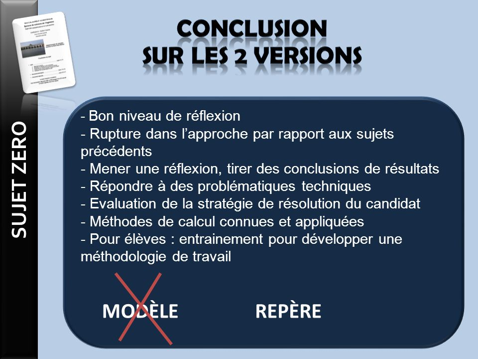 Conclusion sur les 2 versions