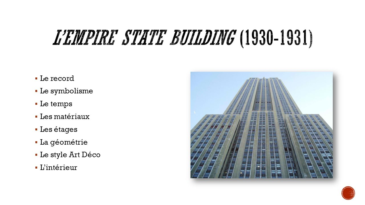 L'Empire State Building (1930-1931)