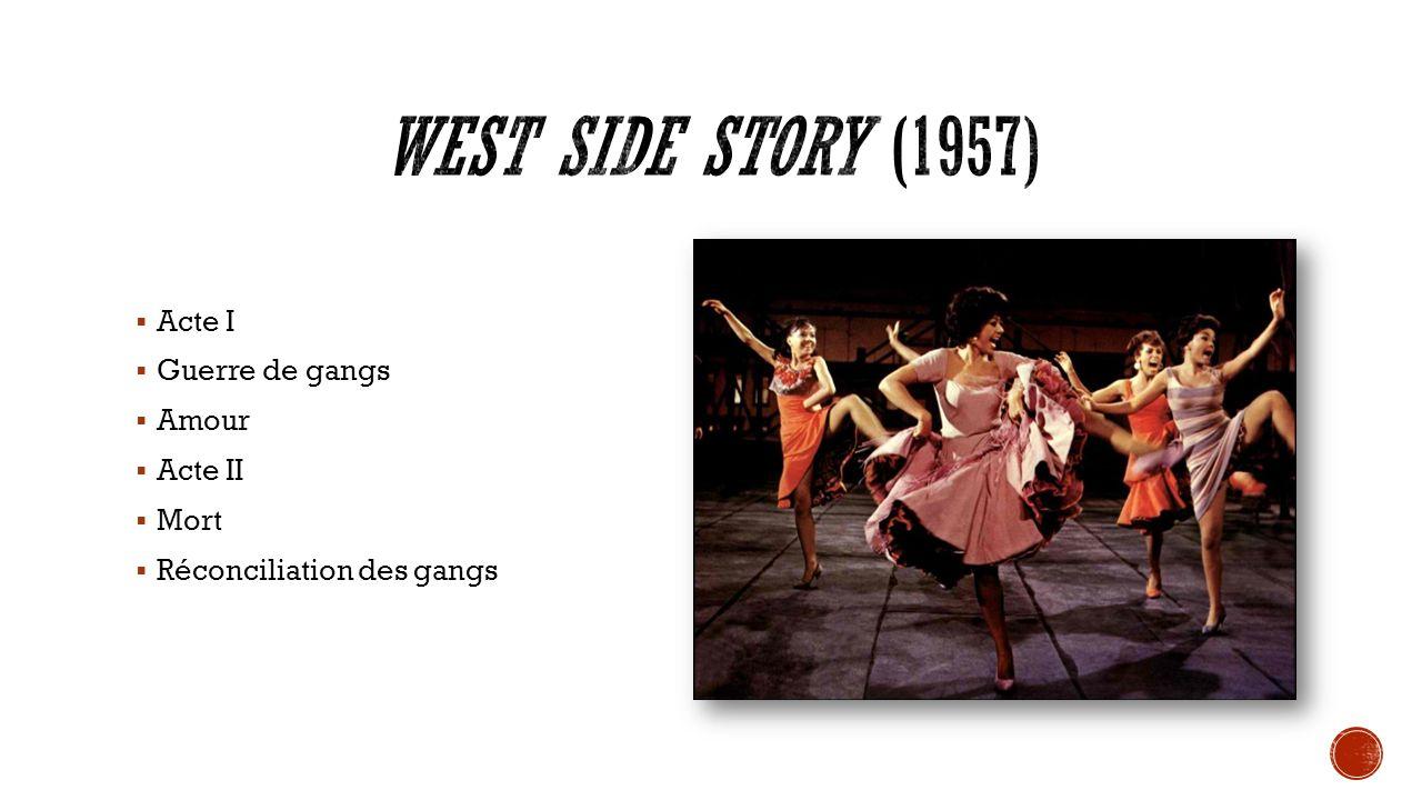 West Side Story (1957) Acte I Guerre de gangs Amour Acte II Mort
