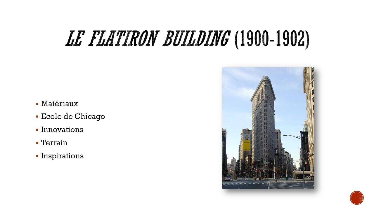 Le Flatiron Building (1900-1902)