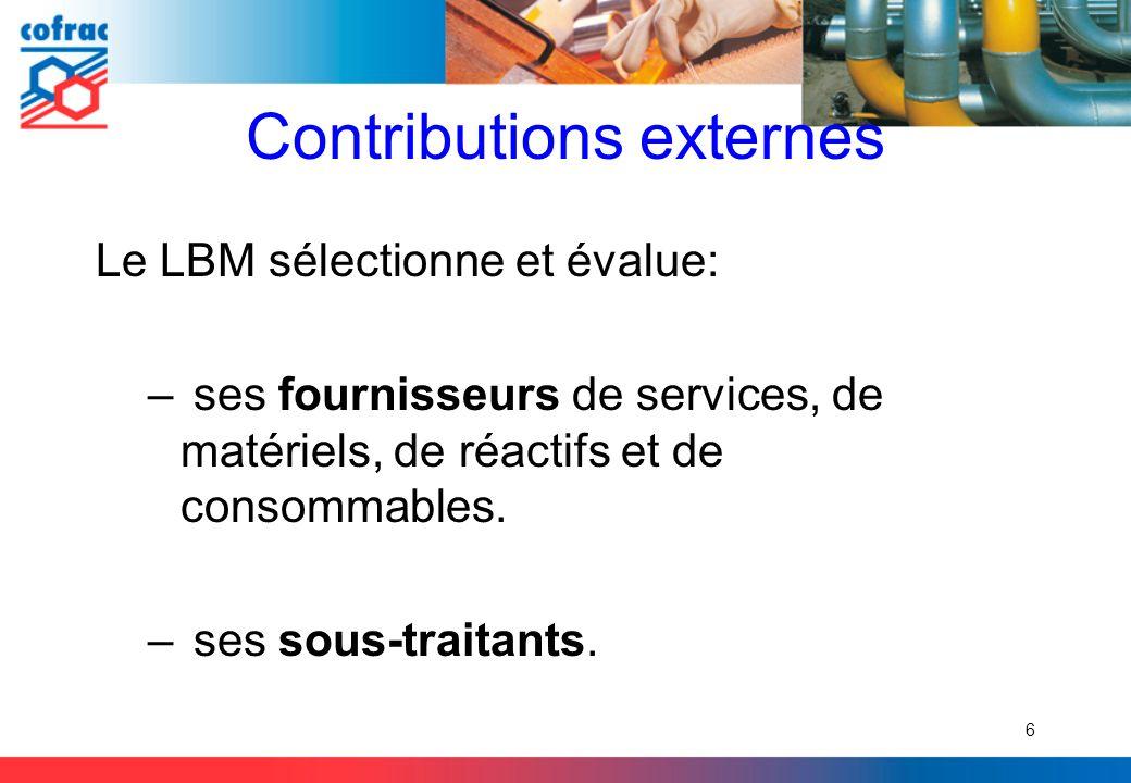 Contributions externes