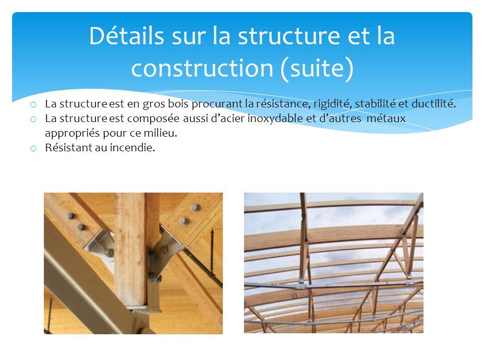 Détails sur la structure et la construction (suite)
