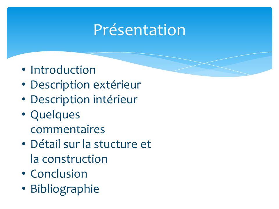 Présentation Introduction Description extérieur Description intérieur