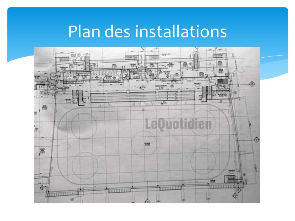 Plan des installations