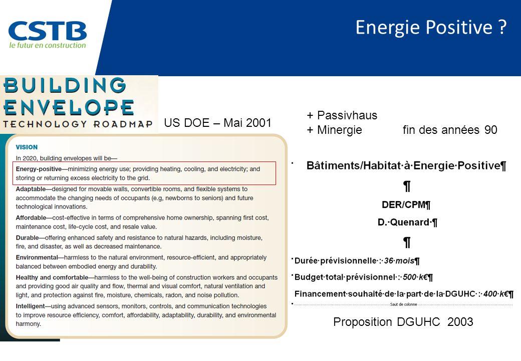 Energie Positive + Passivhaus US DOE – Mai 2001