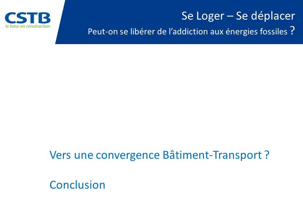 Vers une convergence Bâtiment-Transport Conclusion