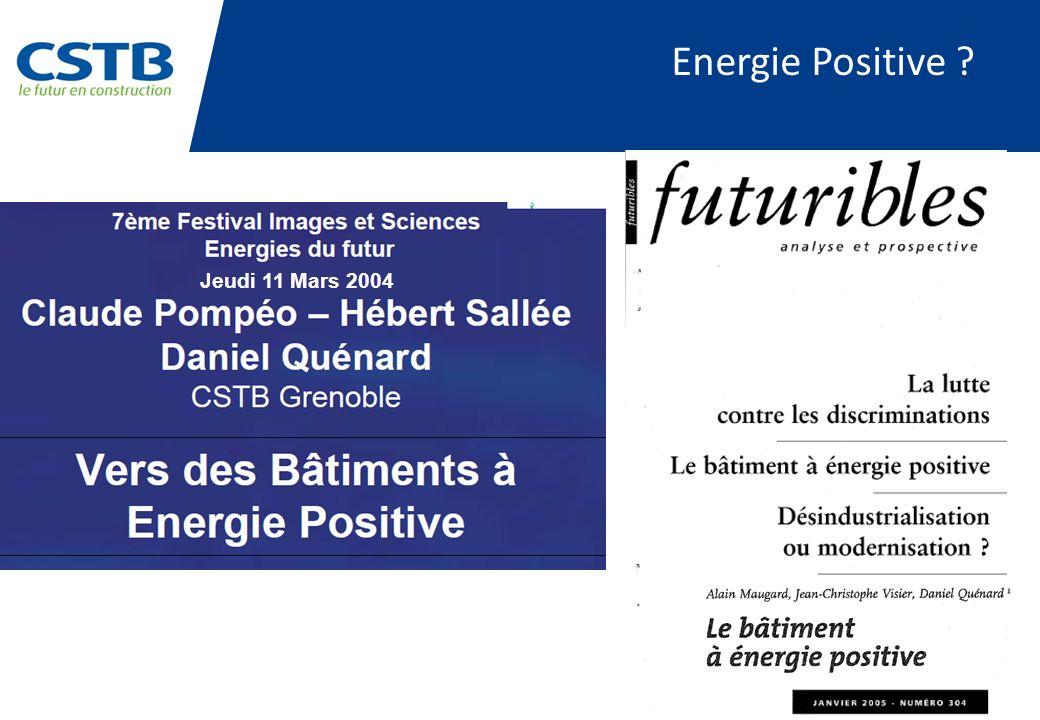 Energie Positive Jeudi 11 Mars 2004