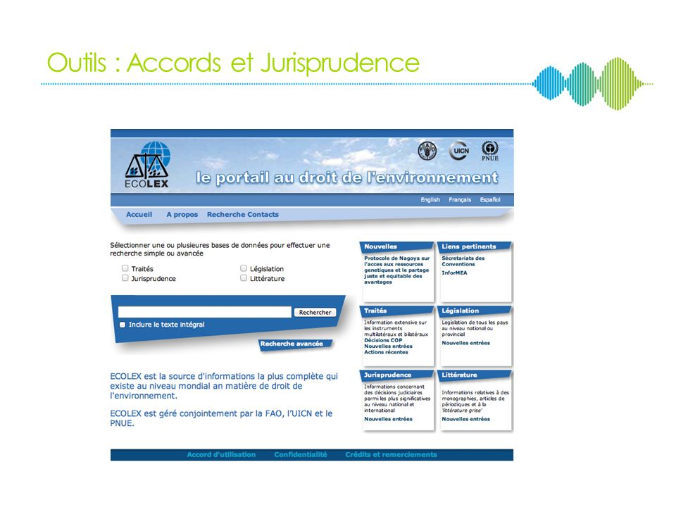 Outils : Accords et Jurisprudence