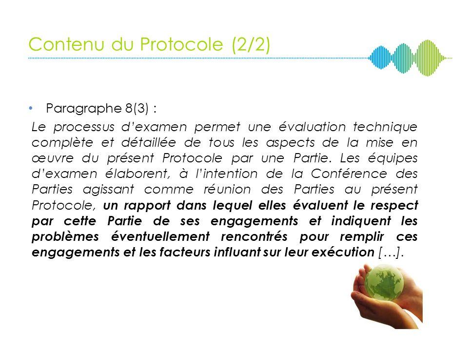 Contenu du Protocole (2/2)