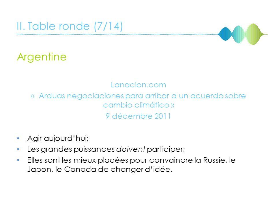 II. Table ronde (7/14) Argentine Lanacion.com