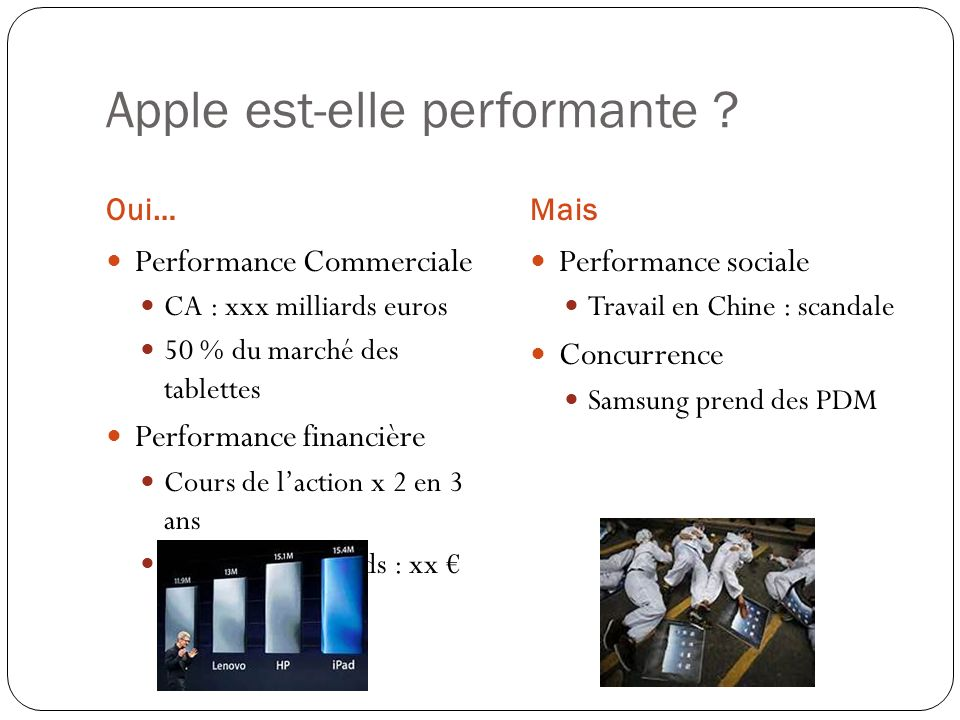 Apple est-elle performante