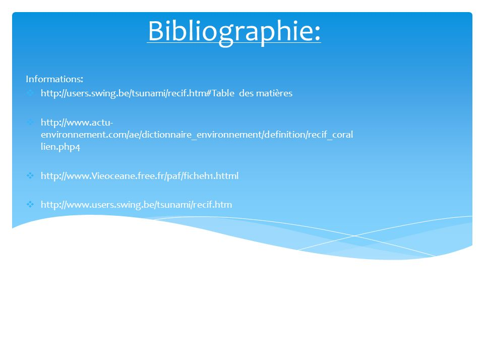 Bibliographie: Informations: