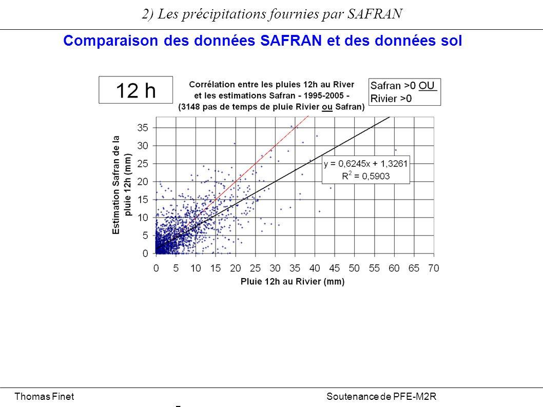 Comparaison des données SAFRAN et des données sol