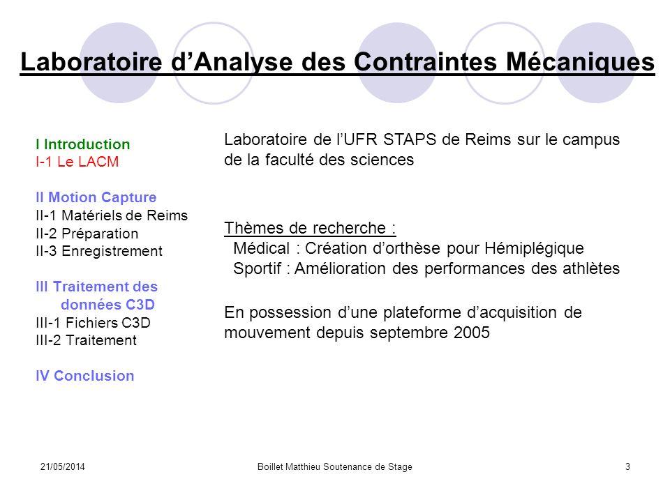 Laboratoire d'Analyse des Contraintes Mécaniques