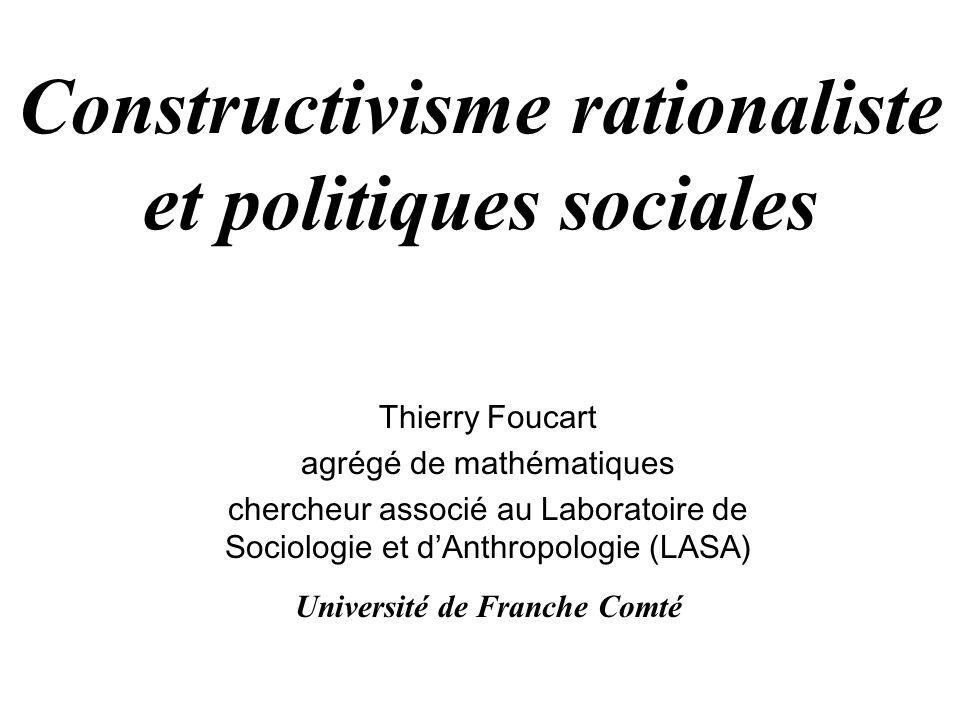 Constructivisme rationaliste et politiques sociales