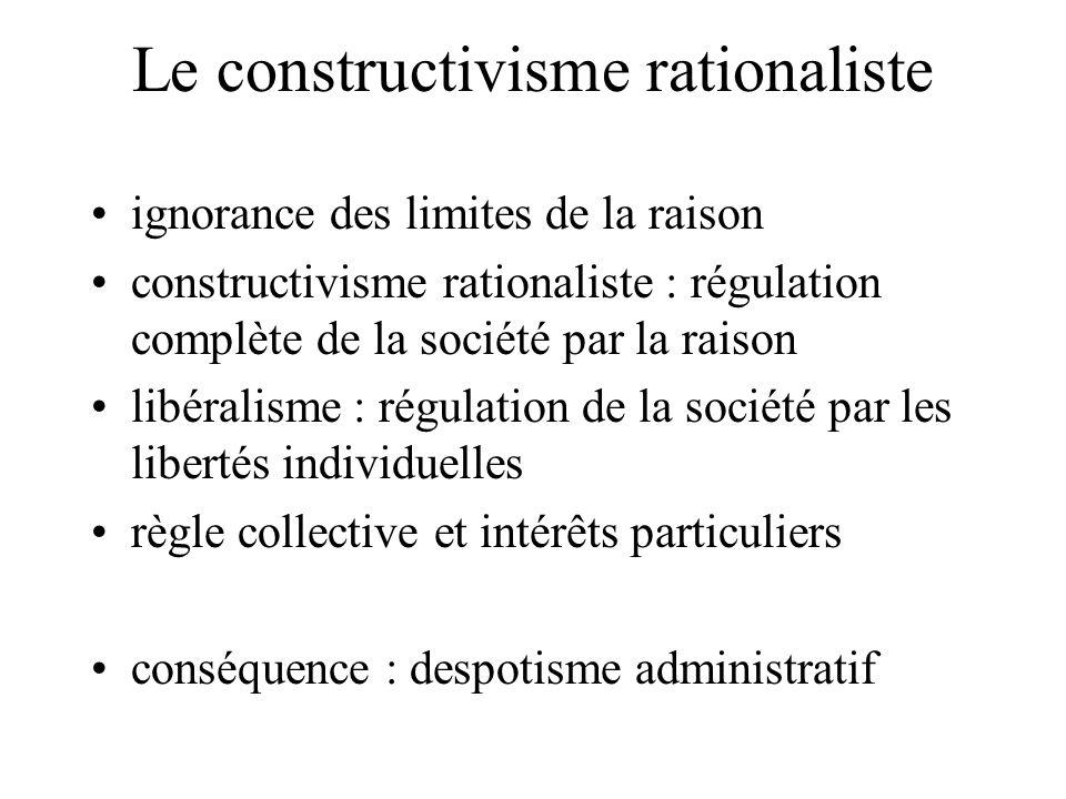 Le constructivisme rationaliste