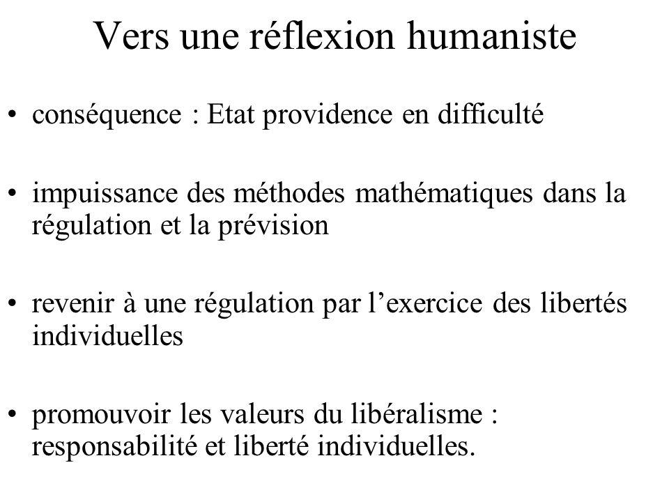 Vers une réflexion humaniste