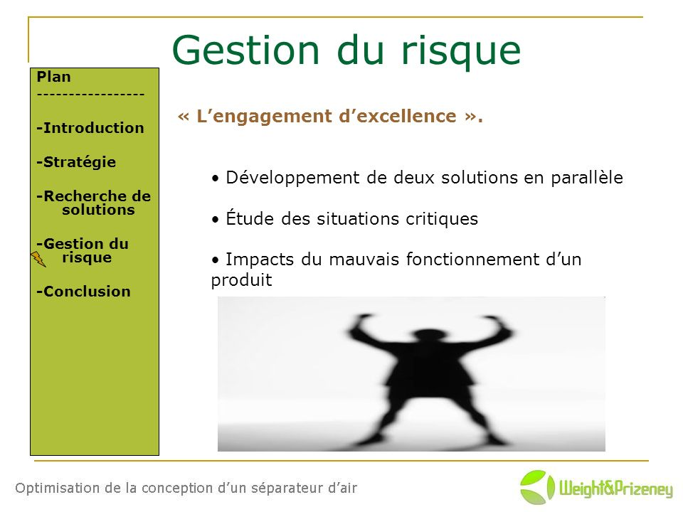 Gestion du risque « L'engagement d'excellence ».